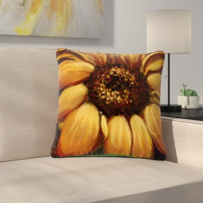 Cyndi Steen Sunflower Days Floral Outdoor Throw Pillow Size: 18 H x 18 W x 5 D