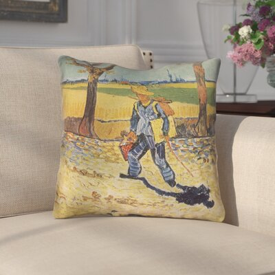 Zamora Self Portrait Indoor/Outdoor Throw Pillow Size: 16 x 16