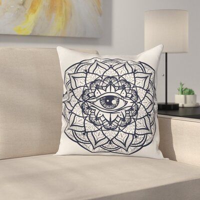 Ethnic Mandala Tribal Square Pillow Cover Size: 24 x 24