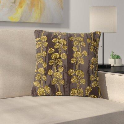 Neelam Kaur Textured Floral Elegance Outdoor Throw Pillow Size: 18 H x 18 W x 5 D