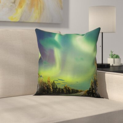 Nordic Rays of Sky Sun Cushion Pillow Cover Size: 18 x 18