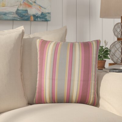Yeji Striped Cotton Throw Pillow Color: Orchid