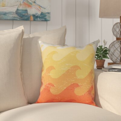 Golden Beach Deep Sea Outdoor Throw Pillow Size: 20 H x 20 W, Color: Yellow/Orange