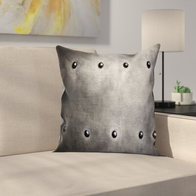 Metal Grunge Plate Square Pillow Cover Size: 24 x 24