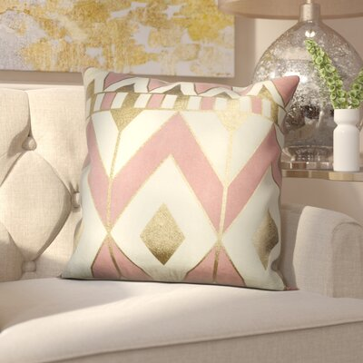 Greer Throw Pillow Color: Pink