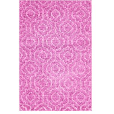 Mcreynolds Trellis Pink Area Rug Rug Size: Rectangle 4 x 6
