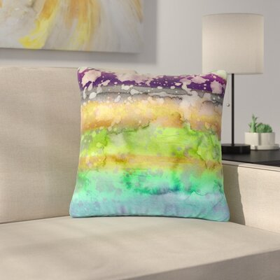 Ebi Emporium California Surf Outdoor Throw Pillow Size: 16 H x 16 W x 5 D, Color: Teal/Purple