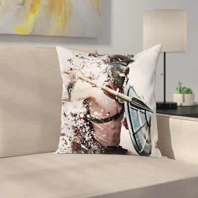 Warrior Battle Dress Square Cushion Pillow Cover Size: 16 x 16
