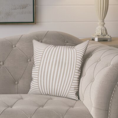Castelvecchio Stripes Throw Pillow Color: Beige, Size: 18 x 18, Type: Pillow Cover
