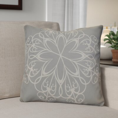 Decorative Holiday Print Throw Pillow Size: 18 H x 18 W, Color: Gray