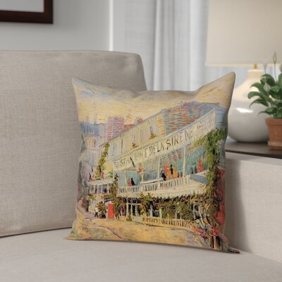 Bristol Woods Restaurant de la Sirene Outdoor Throw Pillow Size: 18 x 18
