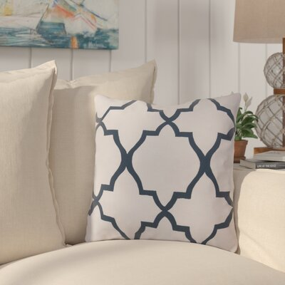 Broome and Lavish Lattice Throw Pillow Size: 18 H x 18 W, Color: Blue
