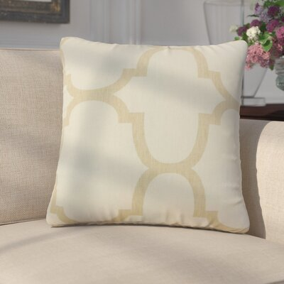 Giusto Geometric Linen Throw Pillow Color: Tan