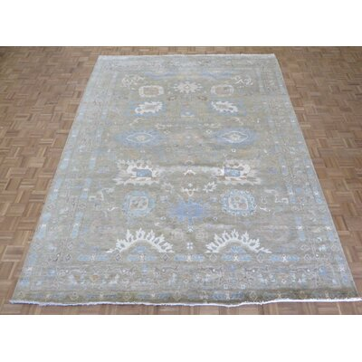One-of-a-Kind Emerystone Hand-Knotted Camel Area Rug
