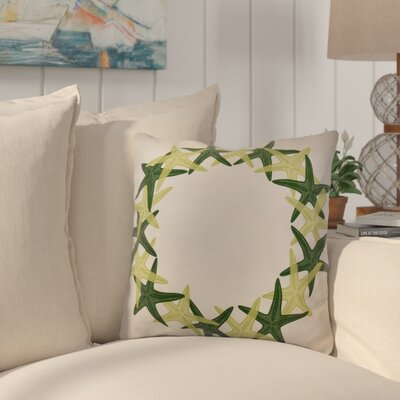 Huong Decorative Holiday Geometric Print Throw Pillow Size: 26 H x 26 W, Color: Green