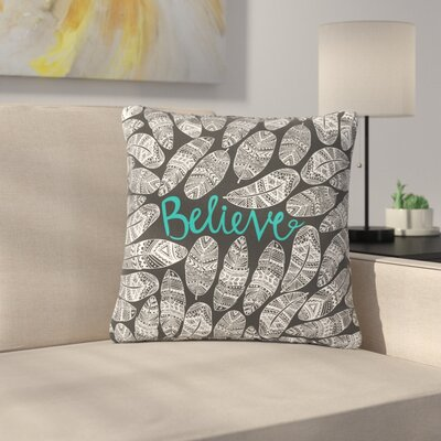 Pom Graphic Design Believe Size: 16 H x 16 W x 5 D, Color: Dark Gray