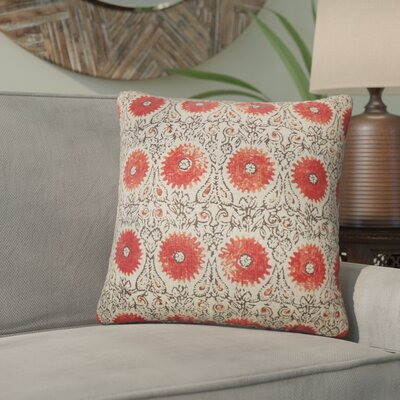 Arroyo Grande Floral Linen Throw Pillow Color: Spice