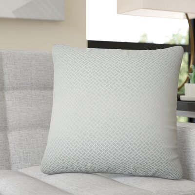 Reeser Geometric Throw Pillow Color: Aqua