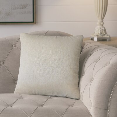 Posner Woven Cotton Throw Pillow Color: Tan