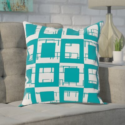 Geometric Decorative Throw Pillow Size: 16 H x 16 W, Color: Lake Blue