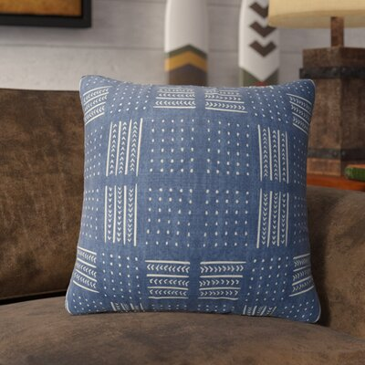 Couturier Geometric Throw Pillow with Zipper Color: Indigo, Size: 18 H x 18 W