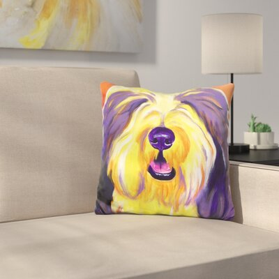 Bearded Collie Banana Throw Pillow