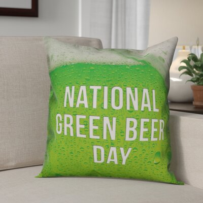 Bledsoe National Green Beer Day Throw Pillow