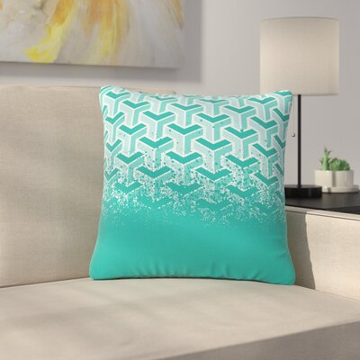 Just L No Yard Urban Outdoor Throw Pillow Color: Teal, Size: 16 H x 16 W x 5 D