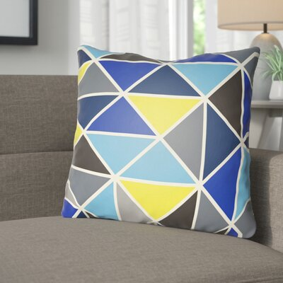 Walpole Throw Pillow Size: 18 H x 18 W x 4 D, Color: Blue