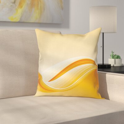 Vibrant Waved Line Square Pillow Cover Size: 18 x 18