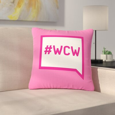 Women Crush Wednesday Outdoor Throw Pillow Size: 18 H x 18 W x 5 D