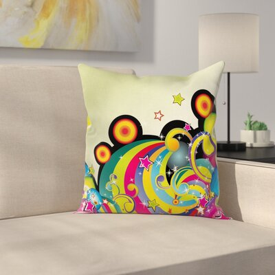 Cartoon Inspired Pillow Cover Size: 18 x 18