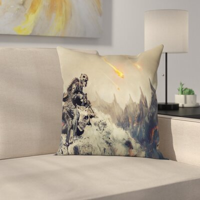 Fabric Armed Soldier Square Pillow Cover Size: 18 x 18