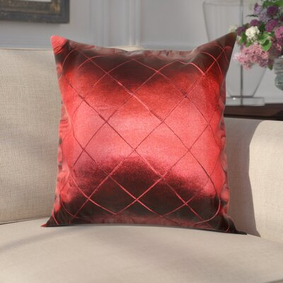 Waugh Silky Checks Decorative Throw Pillow Color: Burgundy