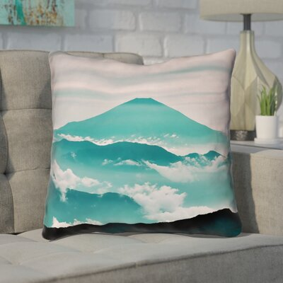 Enciso Fuji Throw pillow Size: 16 H x 16 W, Color: Green