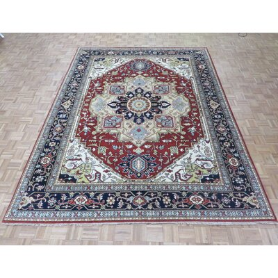 One-of-a-Kind Padro Heriz Hand-Knotted Rust Red Area Rug