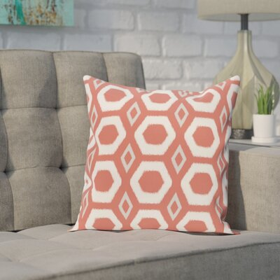 Brockley Geometric Print Throw Pillow Size: 26 H x 26 W x 1 D, Color: Seed