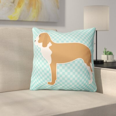 Spanish Hound Indoor/Outdoor Throw Pillow Size: 18 H x 18 W x 3 D, Color: Blue