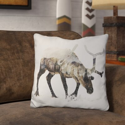 Okelly Reindeer Throw Pillow