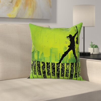 Music Pillow Cover Size: 16 x 16