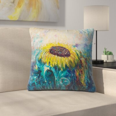 Olena Art Sunny Flower Throw Pillow Size: 14 x 14