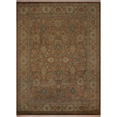 Canning Persian Hand-Knotted Wool Red/Tan Area Rug