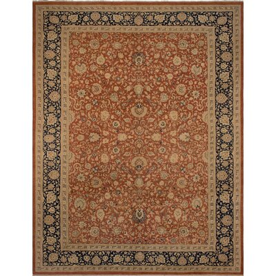 Maly Vegetable-Dyed Hand-Knotted Wool Brown/Blue Area Rug