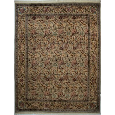 Canning Persian Hand-Knotted Wool Green/Brown Area Rug