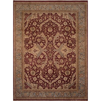 Maly Vegetable-Dyed Hand-Knotted Wool Red/Brown Area Rug