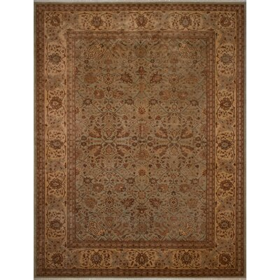 Canning Persian Hand-Knotted Wool Brown Area Rug