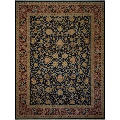 Maly Vegetable-Dyed Hand-Knotted Wool Brown/Navy Area Rug