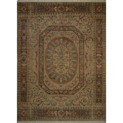 Canning Persian Hand-Knotted Wool Beige/Tan Area Rug