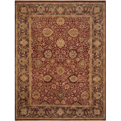 Maly Vegetable Dyed Hand-Knotted Wool Brown/Red Area Rug