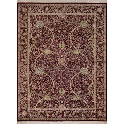 Canning Persian Hand-Knotted Wool Red Area Rug